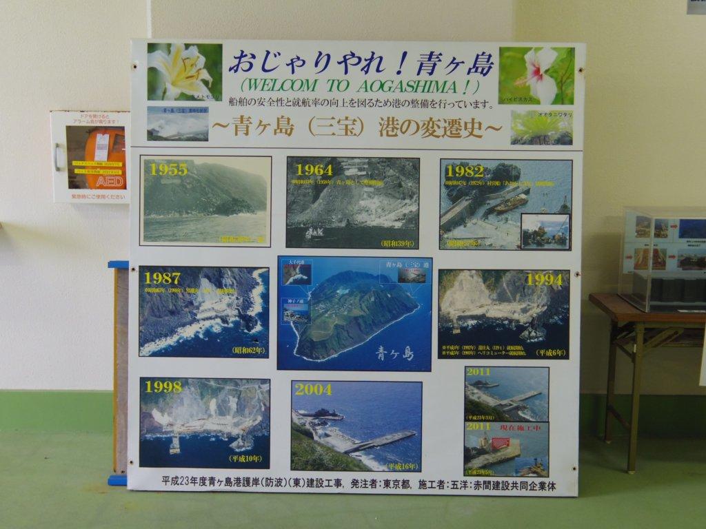 青ヶ島港のパネル