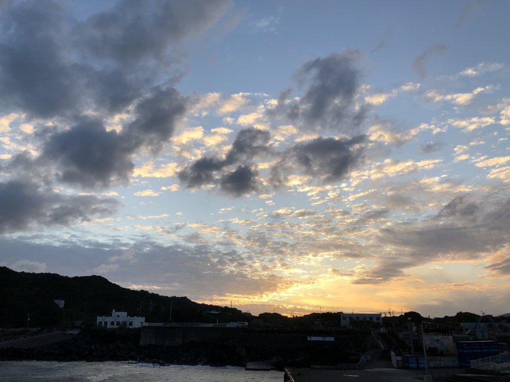 11月青ヶ島最終日の底土港