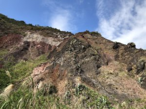 外輪山の表面