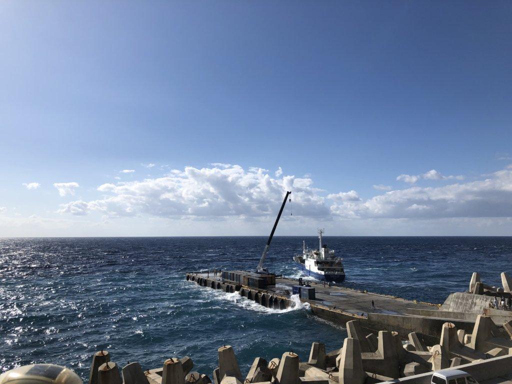 11月青ヶ島最終日の三宝港