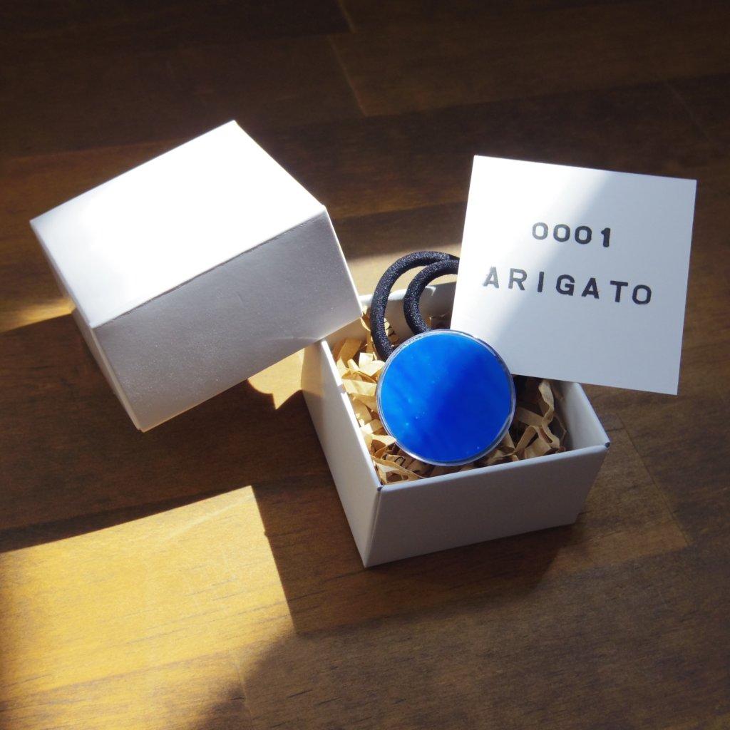 aogashima blue ヘアゴム 箱