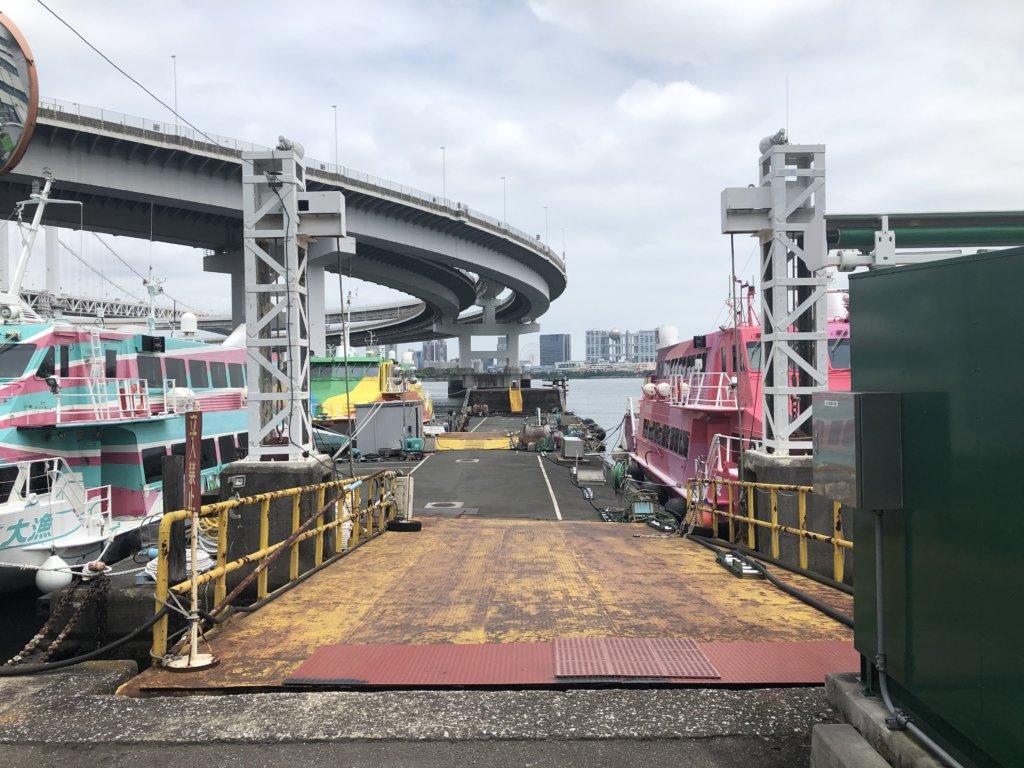 レインボーブリッジと高速船②