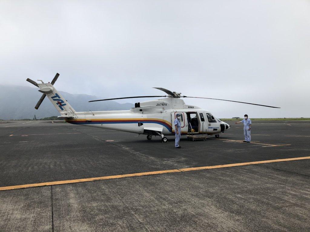 東邦航空のヘリコプター