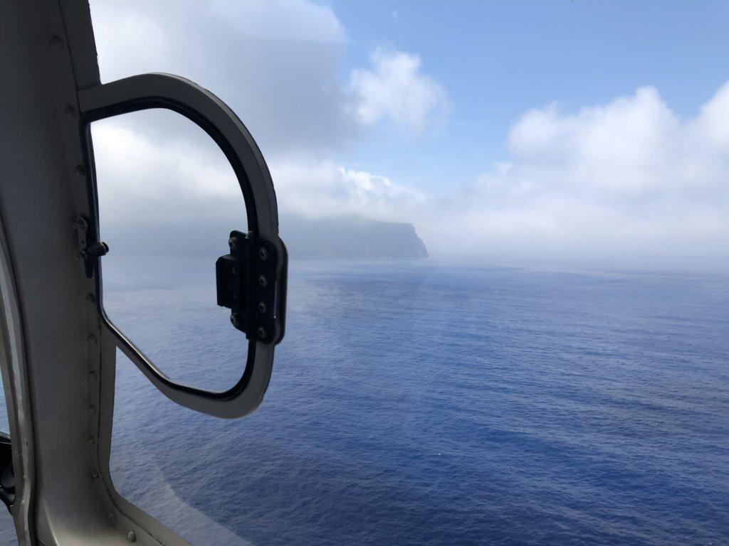 霧に包まれた青ヶ島