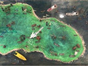 八丈島の模型