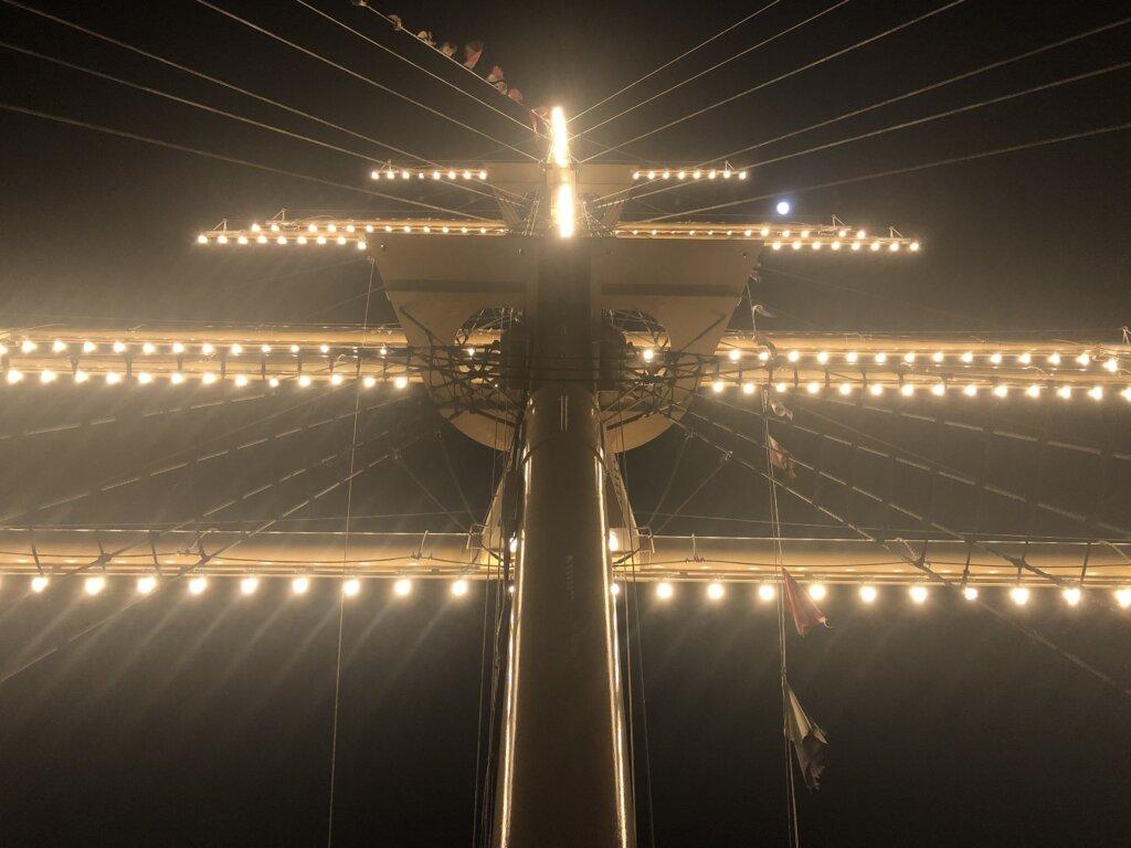竹芝桟橋のマスト